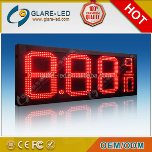 Outdoor advertising 8.889/10 gas station LED gas price signs