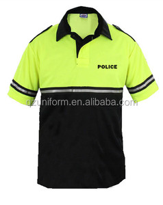 Wholesale Polo Shirt 100% Polyester Dry Fit Police Security Polo Shirts Reflective Polo T Shirt Custom Logo