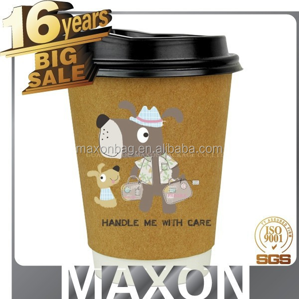 Disposable company logo Best selling paper name of coffee drink,paper cup