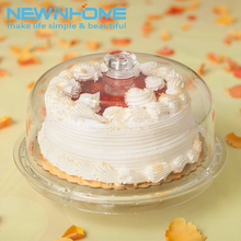 Wholesale Cake Display Acrylic Floating Cake Stand With Cover