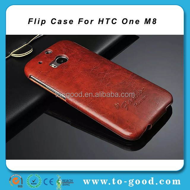 China Suppliers Best Leather Phone Case For HTC One M8,Brown Case For HTC One M8