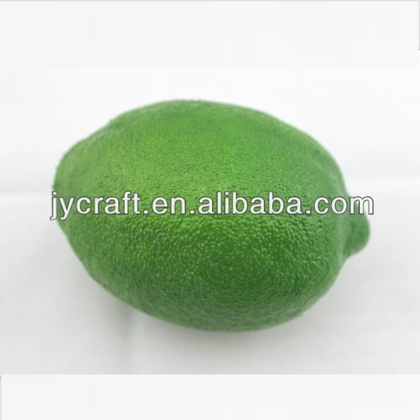 artificial plastic fake fresh whole piece green lime model for fake fruits decorative display in gifts and crafts