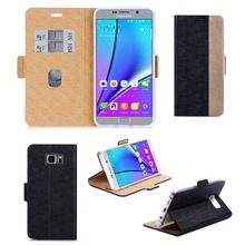China Manufacturer Customize PU+TPU Mobile Phone Case Assorted Smart Flip Phone Case For Sumsung Note 5