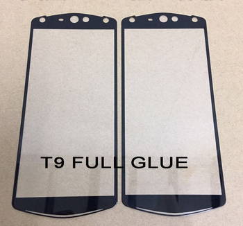 9H Silk printing FULL Glue full cover Tempered glass screen protector for Meitu T9 T8 T8S M8 etc.