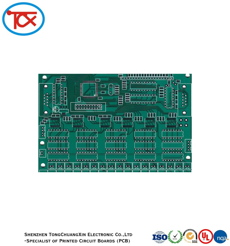LEAD FREE SURFACE FINISHING 2 LAYER PCB CIRCUIT BOARD UL ROHS certificate High Quality Mass Multilayer Layer Rigid PCB