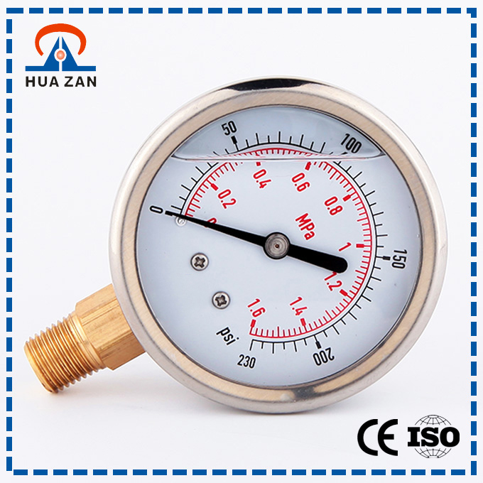 High quality stainless steel oil filled pressure gauge/cng pressure gauge/differential pressure gauge