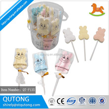 Rabbit Pressed Candy Lollipop / Dextrose Candy in plastic Jar manufacturer