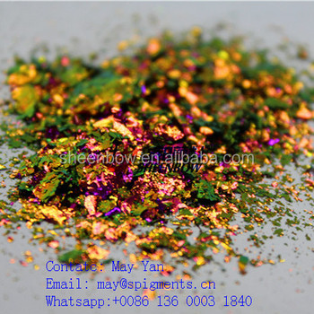 Sheenbow Wholesale Colored Irregular Chameleon Flakes for nail 18 colors