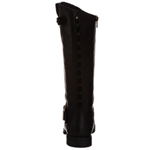 Women's Knee Leather Boots Hill Tall Flat Boot