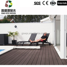 Swimming pool tile recycled material wpc decking Wood plastic composite flooring / best selling in spain wpc decking floor