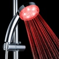 Single Red Color and Hydro-powered Filter Shower Head LD8008-A19