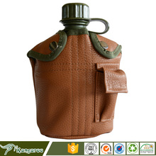 International Portable 1L Military Army Aluminum Water Bottle Canteen with Storage Bag and Aluminum Mess Tin