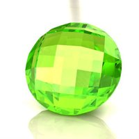 Wholesale Round Synthetic Peridot Faceted Gemstone Briolettes -Available in all Cuts, Shapes, Sizes- Lab Created Color Stones