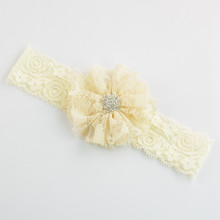 Boutique Ivory Bow Headband For Infant Girls Hair Decoration, Newborn Headband, Baby Hair Bows A385