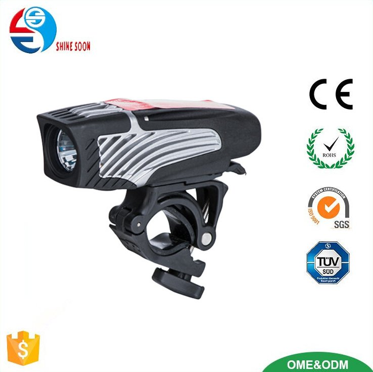SUPER BRIGHT USB Rechargeable Bike Light- Cycle Torch Shark 300 Bicycle HeadLight