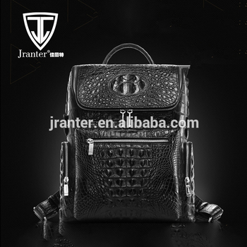 Genuine Crocodile Leather Excellent Backpack Laptop Bags Custom Backpack