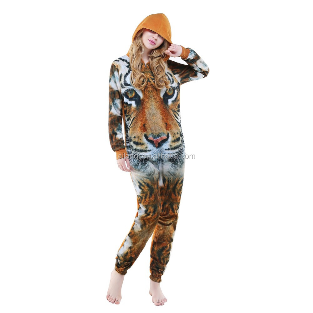 Halloween Costumes Onesie Adults Sleeping Wear Pajamas Cosplay Costumes