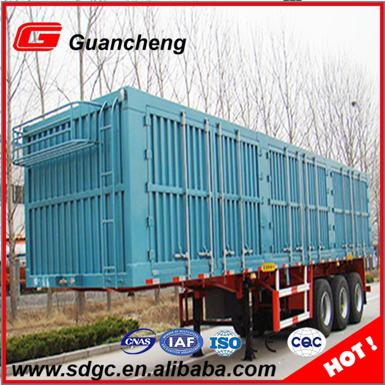 Factory price 3 axle carbon steel van type enclose box truck trailer on sale