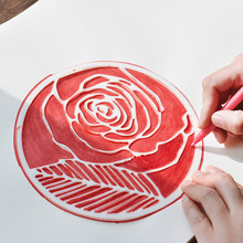 2018 New hot Selling Creative plant flower round painting template ruler, handbook scrapbook diy photo album drawing ruler
