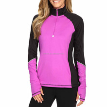 Custom Bulk Online Sportkleding Vrouw Lange Mouwen Half-Zip Fitness Athletic Gym Productieproces Workout Sport Apparel
