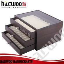 Luxury wooden pen display case for store