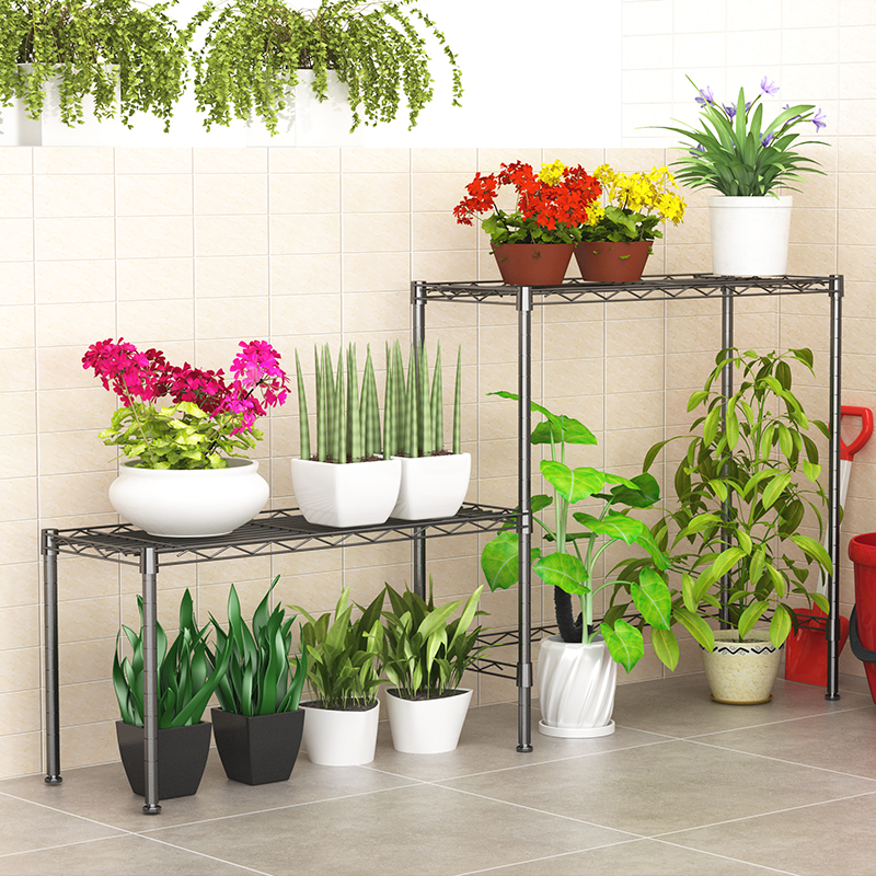 XM_236D Outdoor metal pot rack iron flower shelf models