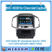 2016 for Chevrolet Captiva 2011-2012/Epica car dvd gps with rear view camera auto radio fm radio support bluetooth SWC ipod bose