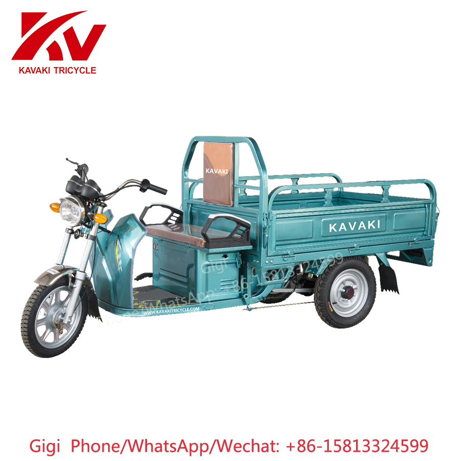 2018 KAVAKI brand 900W60V powerful cheap price new three/3 wheel adult electric cargo delivery motorcycle for sale