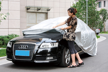 Easy opperation car cover 170T polyester with silver coated 11106