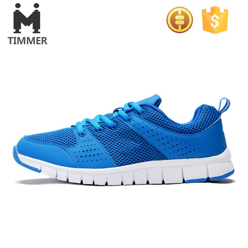 fabulous blue mesh upper basketball shoe soft sole sneakers for women and men