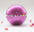 purple Pot Bottle Container Ball Acrylic Cosmetic Cream Jar