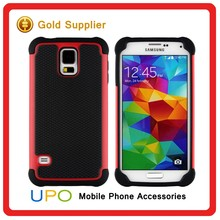 [UPO] 3 in 1 Rugged Combo Hard Plastic PC Silicon Back Cover Case for Samsung Galaxy S5