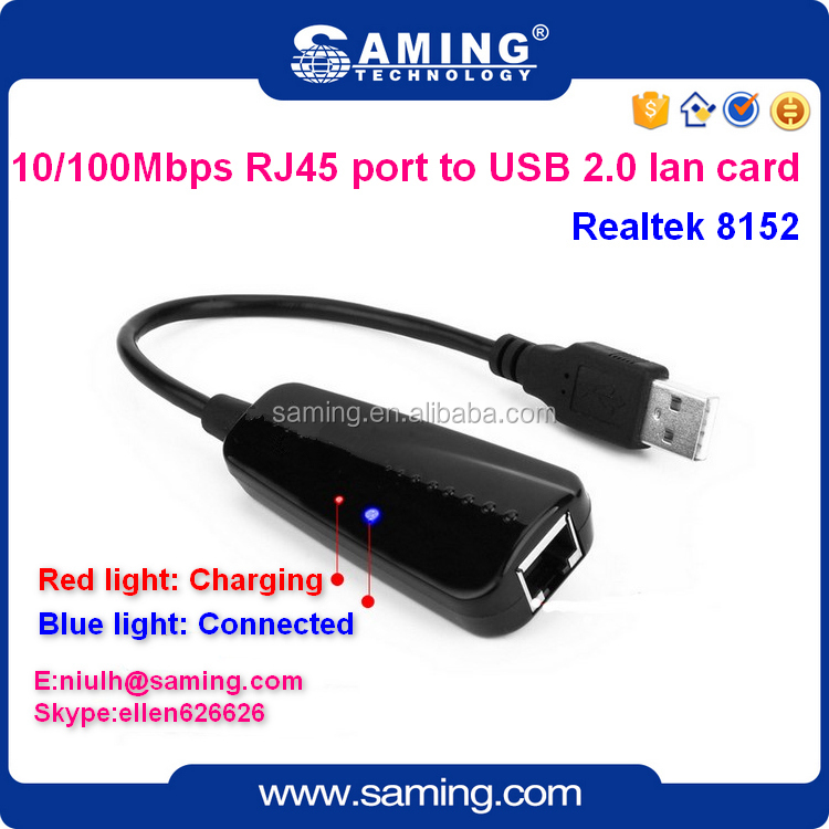 10/100Mbps usb2.0 to RJ45 ethernet lan adapter mini lan card/ network card for laptop