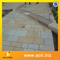 Sandstone floor and wall tiles