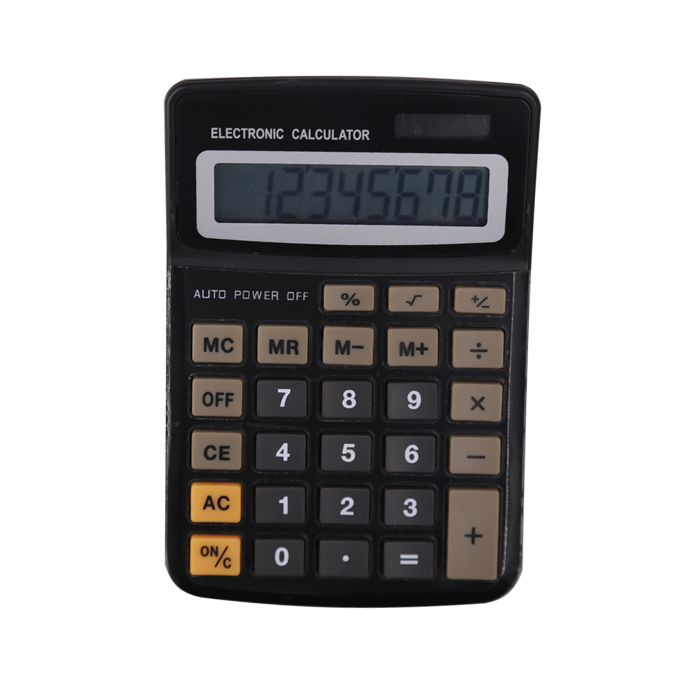 Plastic Office 8 Digit Desk Dual Power Calculator