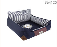 2016 new design products stocked luxury dog beds with removable cushion