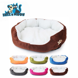 Eco-friendly Wholesale New Warm Cheap Cute Soft Washable Cotton Pet Dog Bed