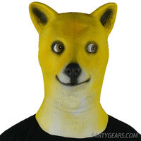 100%natrual latex Doge animal simple design masquerade party face masks