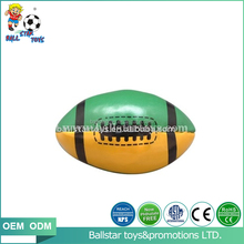 3 inch PU soft Stuffed hot sale Mini rugby ball toy /foan toy for baby