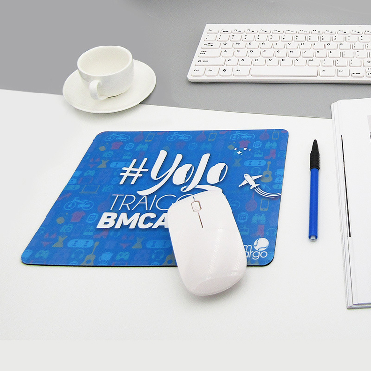 Logotipo impresso personalizado full color pvc mouse pad