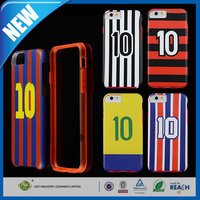 C&T Hybrid Stripes number 2 in 1 pc tpu bumper combo phone case for iphone 6 plus