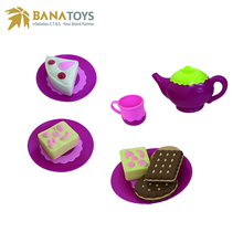 Plastic kitchen teapot tea set toy for girls