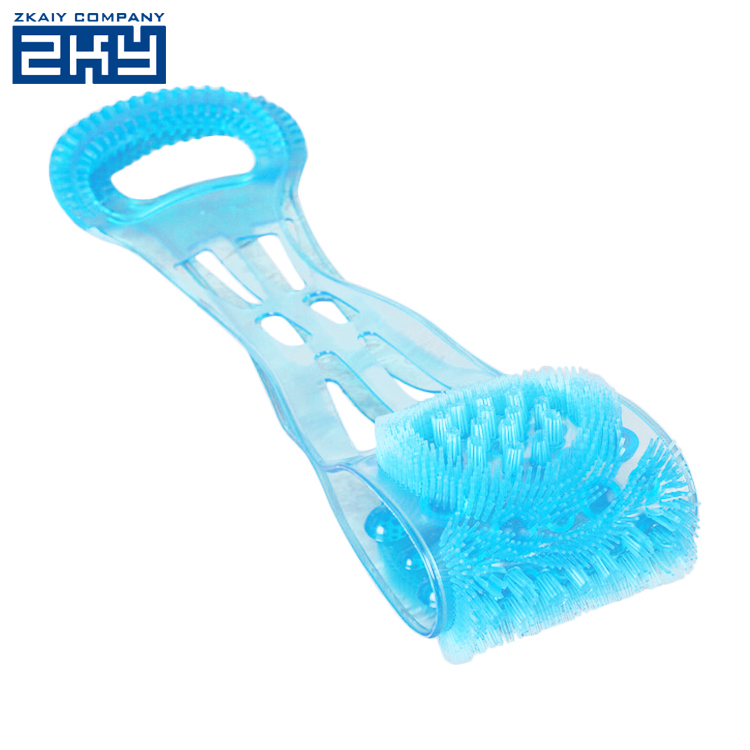 Dual Sided Back Scrubber Silica Gel Body Massage Brush Silicon Back Wash Bar