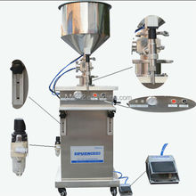 spx Top grade unique semi automatic paste/shaving foam filling machine