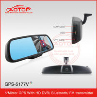 New Mult-Function Auto Security Camera System Bluetooth Rearview Mirror GPS Navigation With Reverse Cameran GPS