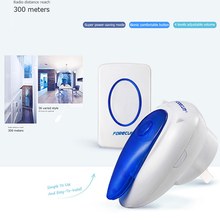 Manufacturer Plug-In Apartment Wireless Digital Doorbell For The Deaf With Strong Blue Flasher