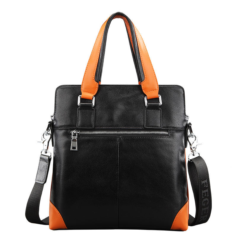 High Quality Leather Men's Durable Shoulder Handbag Executive Bags for Men