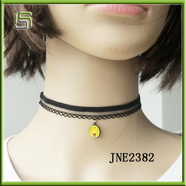 New Fashion Tattoo Lace Black Choker Collar Necklace set