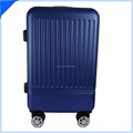 China cute trolley hard blue wheeled case luggage