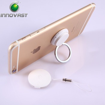 2018 New Patented Smart Ring Holder Selfie Remote Shutter Bluetooth 4.0 Phone Finder with Anti Theft Alarm Function